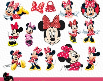 Minnie Mouse, Minnie Mouse Disney, Minnie Mouse clipart, PNG, Printable Digital Files, Minnie Mouse Party, Scrapbooking, Birthday, VC-011