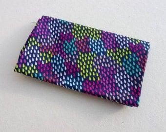 FANTASY Coupon fabric cotton patchwork FANTASY RAINDROPS Navy 50x55cm