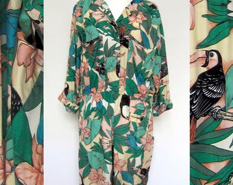 vintage short jumpsuit tropical hawaii overall
