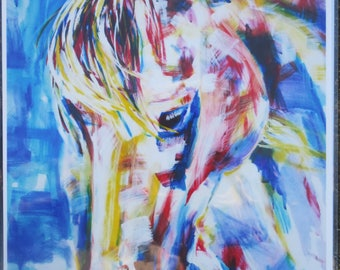 "Horse Painting A4 Print Bright Reiki Colour Brights ""Grace"""