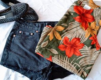 90s vintage floral tank top / floral blouse / womens tank top