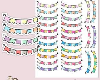 COLORFUL BUNTING BANNERS Planner Stickers/ Happy planner/ Eclp/ Erin Condren life/ functional stickers/ scrapbooking/ Kikki K/ Filofax/ S76