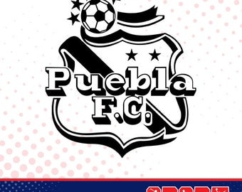 Puebla FC silhouette, sport silhouettes, Soccer silhouette SS-SO-033