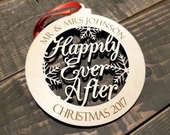 Our First Christmas Ornament | Mr and Mrs Ornament | Our First Christmas as Mr & Mrs | Custom Christmas Ornament | Christmas Ornaments