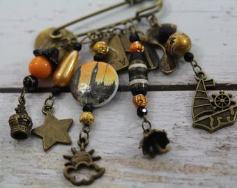 Austerlitz pin charms and beads