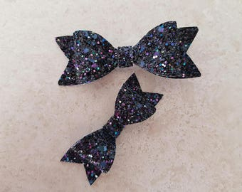 Mermaid Lagoon Glitter Bow