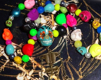 Over the rainbow (mutant doll pendant)