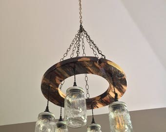 light fixture, reclaimed wood