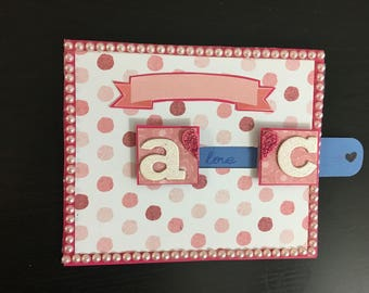 Initials Interactive Handmade Slider Card for Anniversary with