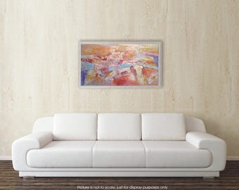 HAPPY MOMENTS- outing, original abstract painting 100x53cm