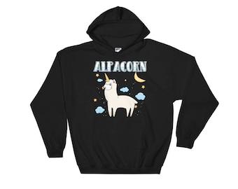 Alpaca Unicorn Hoodie - Alpaca Hoodie - Unicorn Gifts - Alpaca Gift - Alpaca Sweatshirt - Unicorn Sweatshirt