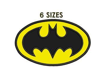 Batman Applique Design - 6 sizes Batman logo