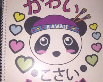 Personalized Notebook with Kawaii Logo