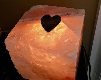 Himalayan Salt Lamp,  Salt Lamp,  Pink Salt Lamp, Salt Cave, Antique Copper,  Patina Copper,  custom