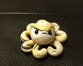 Creme, White and Black Octopus-Polymer Clay