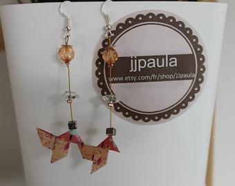 Origami for Christmas earrings