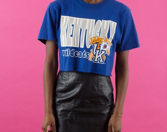 Kentucky, Wildcats, 90s Tshirts, Crop Top, 90s Clothes, Tshirt, 90s Sports, 90s Crop Top, 90s Shirt, Graphic Tee, Blue, 90s, Distressed