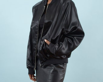 Bomber Jacket, 90s Bomber Jacket, Spring Jacket, Vintage, Jazz, Black Jacket, Shiny, 90s Vintage, 90s Clothing, Embroidery, 90s Clothes