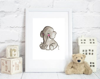 elephant wall art, elephant printable, elephant nursery art, elephant print, elephant decor, elephant nursery, nursery elephant, nursery art