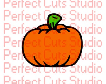 Pumpkin SVG & Studio 3 Cut File for Cricut Brother Silhouette Files Cutouts Downloads SVGs Halloween Cut File Thanksgiving Farm Harvest Fall
