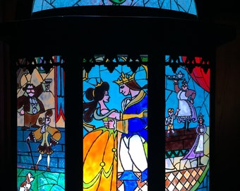 Hand Painted Beauty and the Beast Lantern
