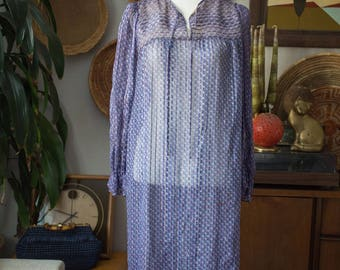Vintage Silk Indian Peasant Dress