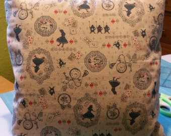 Alice in Wonderland handmade cushion