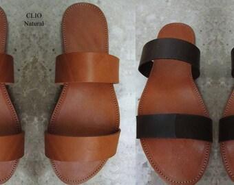 Sandals Womens, Sandales grecques,Greek Sandals,Wedding Santals,Σοκολάτας Color,Handmade Sandals, Leather Sandals,CLIO ( Ειδική Τιμή )