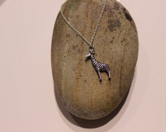 Sterling Silver Giraffe Necklace approx. 26mm