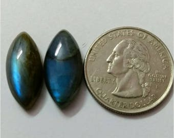 2 Pcs Lot ,Mix Shape Labradorite /Attractive Blue Flash Labradorite/wire wrap stone/Super Shiny/Pendant Cabochon/Labradorite Cabochon lot