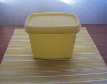 Pastel yellow Tupperware storage container-50's vintage