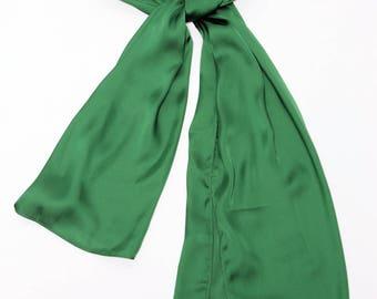 Green Polysilk scarf