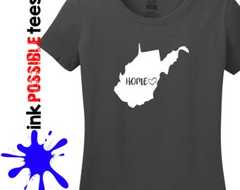 West Virginia Home Shirt West Virginia Gift T-Shirt Roots Native