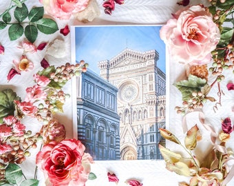 ITALY FLORENCE PHOTOGRAPHY A4 Print Duomo Florence Church