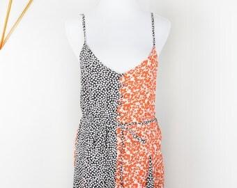 TOPSHOP Black Orange Floral Jumper