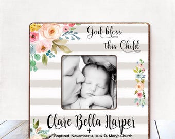 Baptism Gift GIRL Christening Gift GIRL Personalized Picture Frame Baptism Gift for Goddaughter Gift Goddaughter Baptism Gift Christening 49