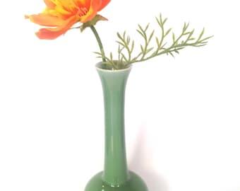 Japanese celadon bud vase