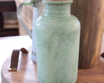 Sea Glass Bottle - Vintage-like bottle