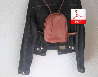 Small Leather Backpacks - Sewing Pattern to Make This Leather Backpack, Leather PDF Patterns