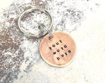 Custom Smashed Penny Keychain