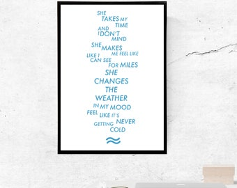 She Changes The Weather, Swim Deep - A3/A4 Print