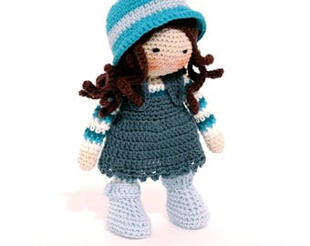 Amigurumi doll,Crochet doll,handmade doll,rag doll, nursery decor, crochet girl doll , girl amigurumi ,baby doll