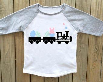 boys easter shirt, easter train shirt, toddler easter shirt, boy easter shirt, easter outfit, baby boy easter, easter shirt boys, easter boy