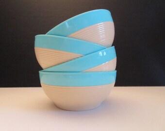 Vintage RaffiaWare Dessert Cereal Bowls