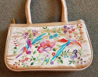 Vintage embroidered evening bag