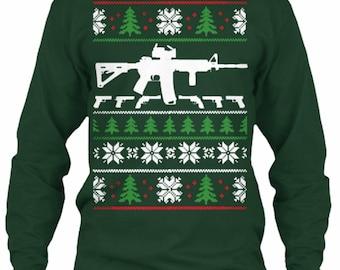 Gun sweater   Etsy