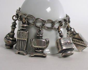 Vintage Seven Deadly Sins Charm Bracelet