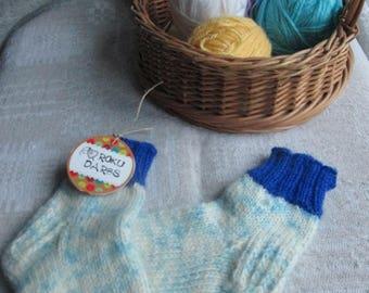 Hand-Knitted Socks for Kids
