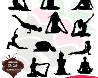 Yoga collection eps, jpg, png and svg files SC-102