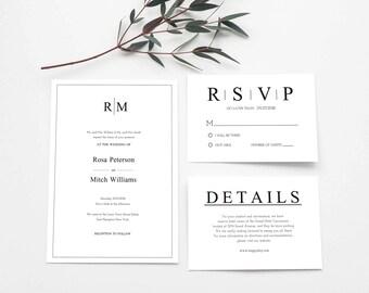 Rustic Wedding Suite, Rustic Invitation Set, Clean Wedding Suite, Rustic Wedding Invite, Rustic Wedding Invite Kit, Italy Invitation